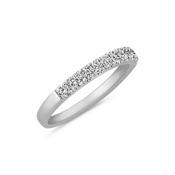 Pavé Set Diamond Wedding Band in 14k White Gold