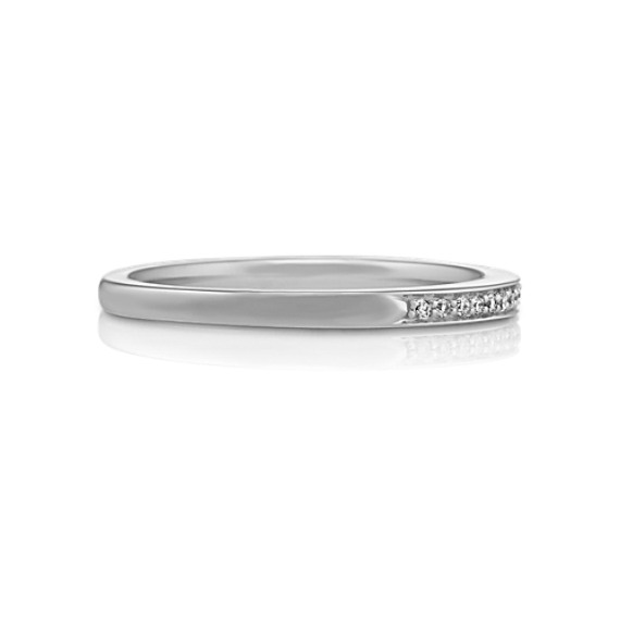 Pavé Set Diamond Wedding Band