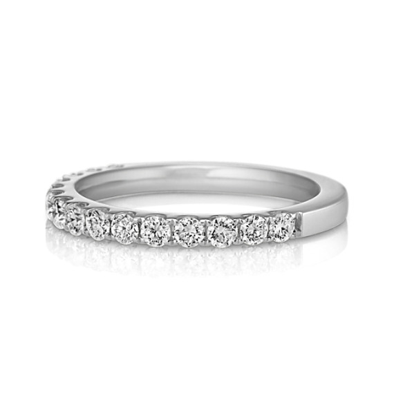 Pavé-Set Diamond Wedding Band