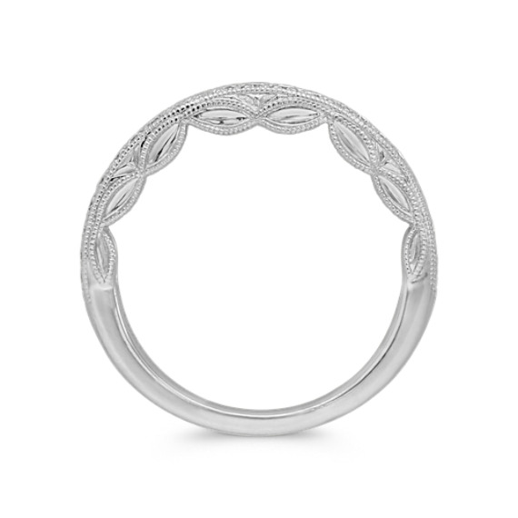 Pavé Set Vintage Diamond Wedding Band in Platinum