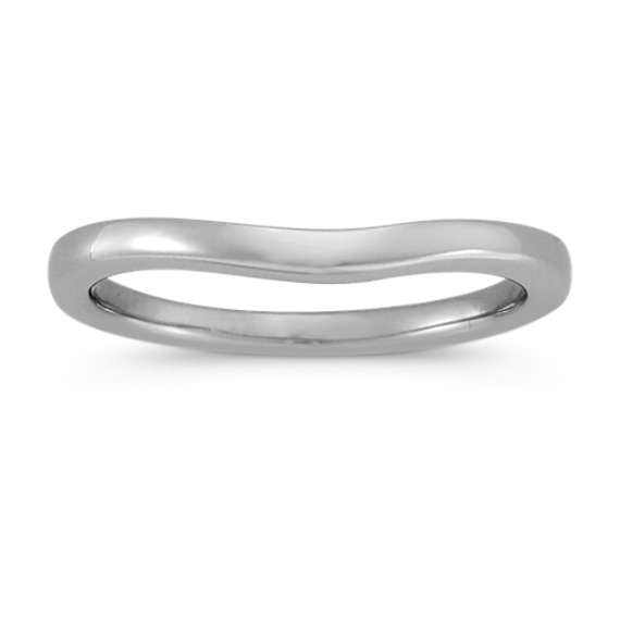 Platinum Contour Wedding Band