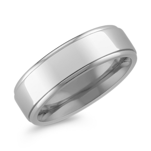 Polished Titanium Ring (7mm)