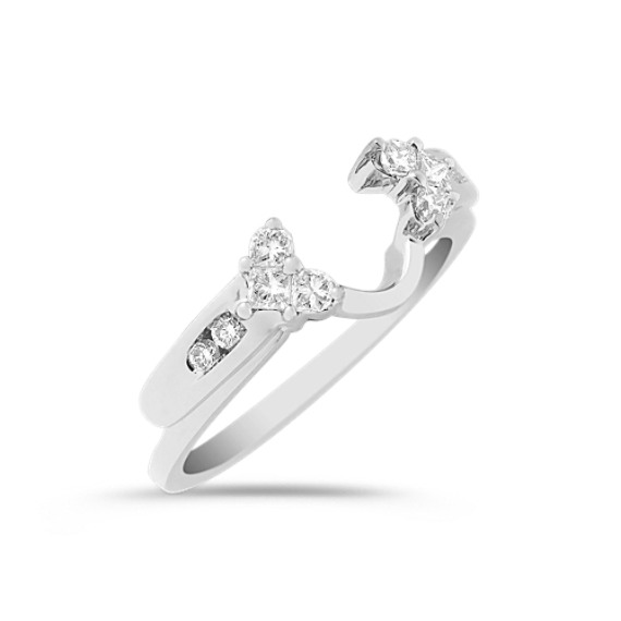 Princess Cut and Round Diamond Solitaire Engagement Ring Wrap