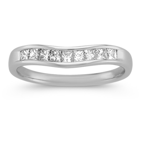 Princess Cut Diamond Contour Wedding Band