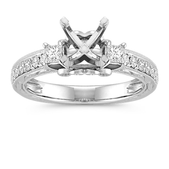 Princess Cut Engagement Rings Princess Cut Engagement Ring Mountings