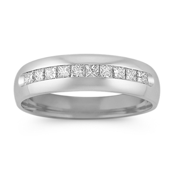 Princess Cut Diamond Ring with Channel-Setting (6mm)