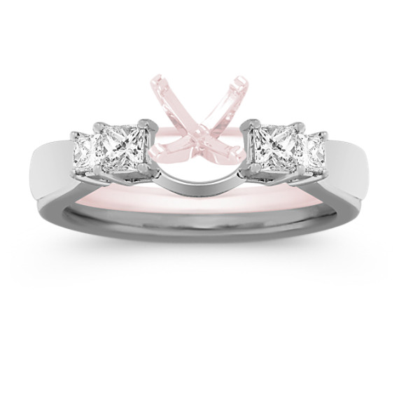 Princess Cut Diamond Solitaire Engagement Ring Wrap
