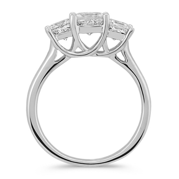 Princess Cut Diamond Three-Stone Ring