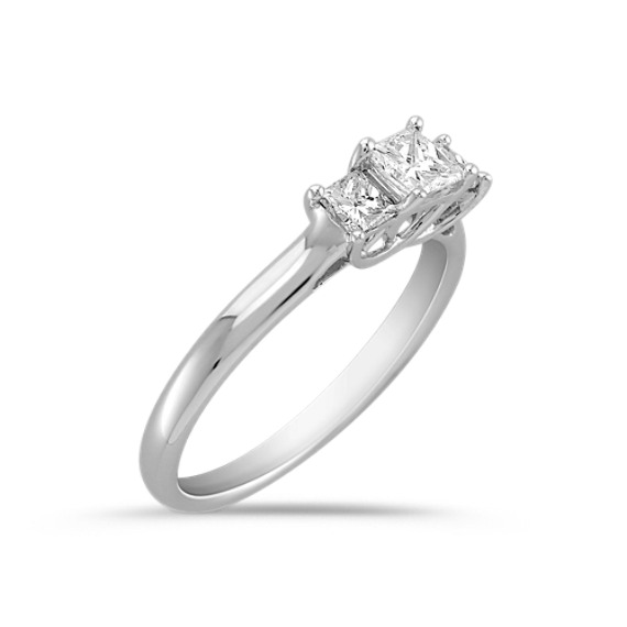 Princess Cut Diamond Three-Stone Ring