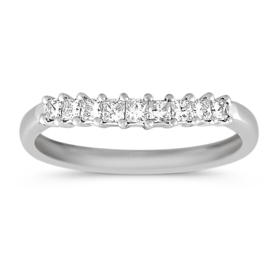 Princess Cut Diamond Wedding Band