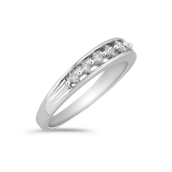 Princess Cut Eight-Stone Diamond Wedding Band