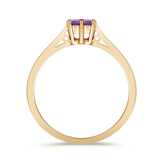 Princess Cut Lavender Sapphire Ring