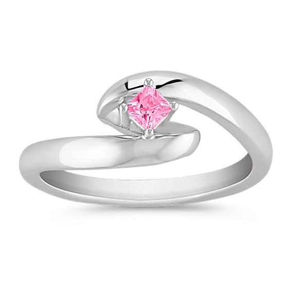Princess Cut Pink Sapphire Ring