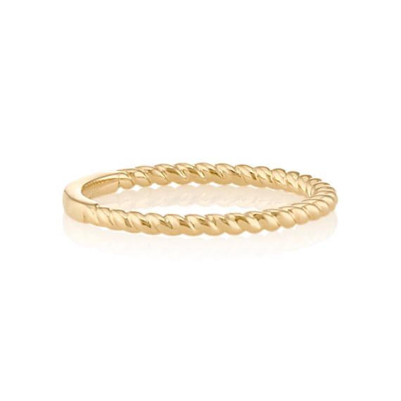 Rope Stackable Ring in 14k Yellow Gold