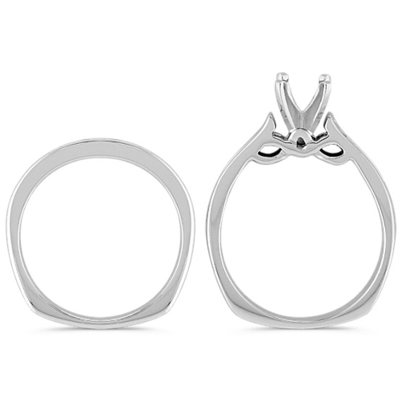 Round Diamond Channel-Set Wedding Set