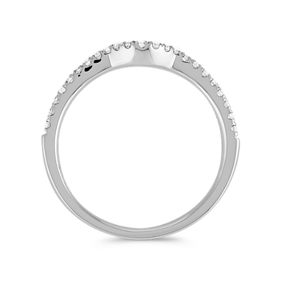 Round Diamond Contour Wedding Band