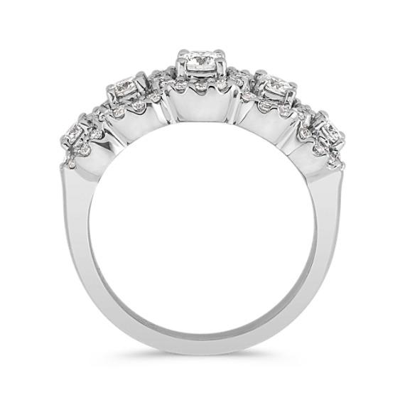 Round Diamond Halo Ring in 14k White Gold