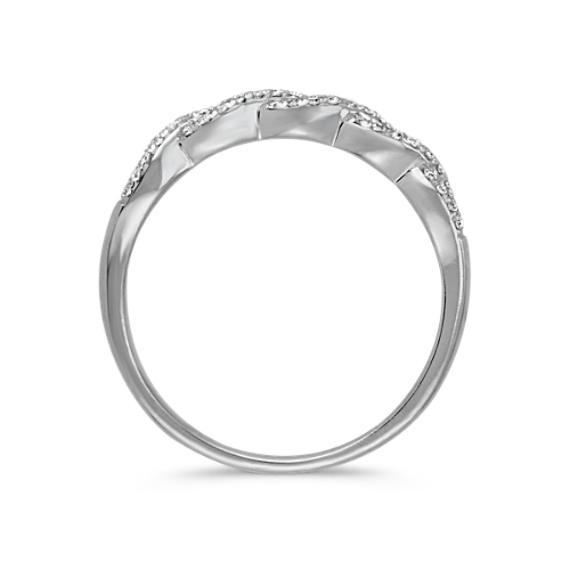 Round Diamond Infinity Swirl Ring
