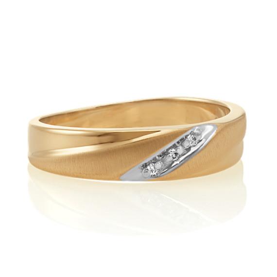 Round Diamond Men's Ring in 14k Yellow Gold (6mm)