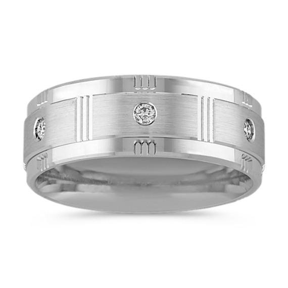 Round Diamond Men's Ring (8mm)