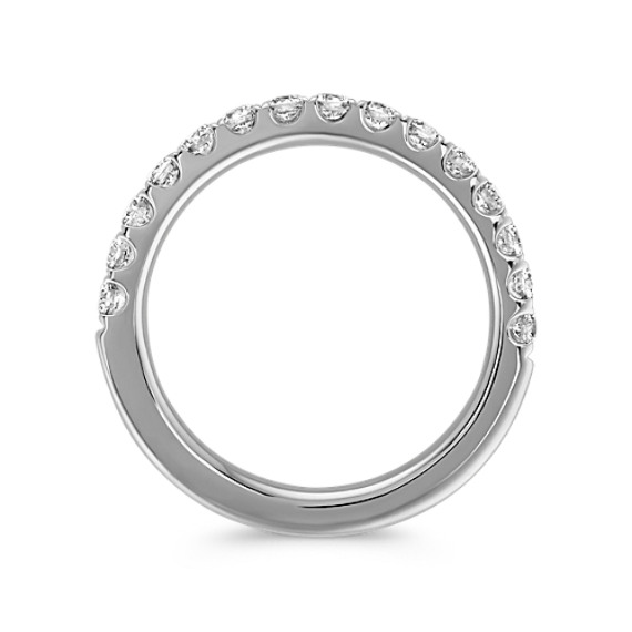 Round Diamond Pavé-Set Wedding Band in Platinum