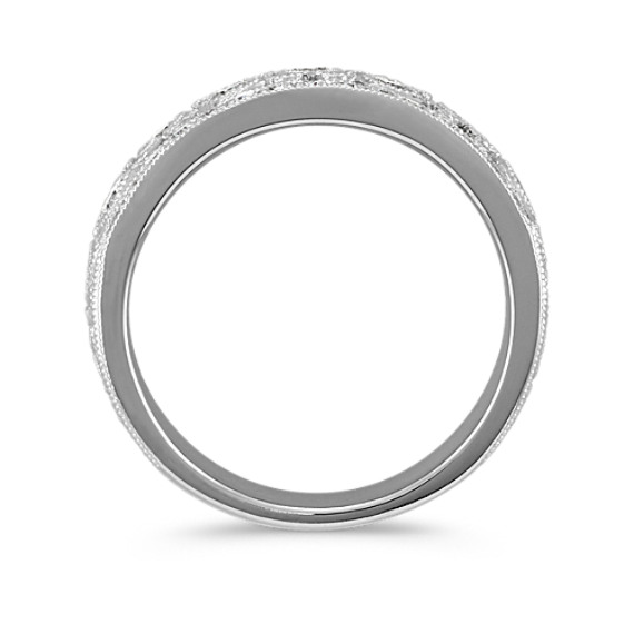 Round Diamond Ring in 14k White Gold