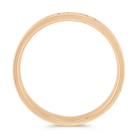Round Diamond Ring in 14k Yellow Gold (6mm)