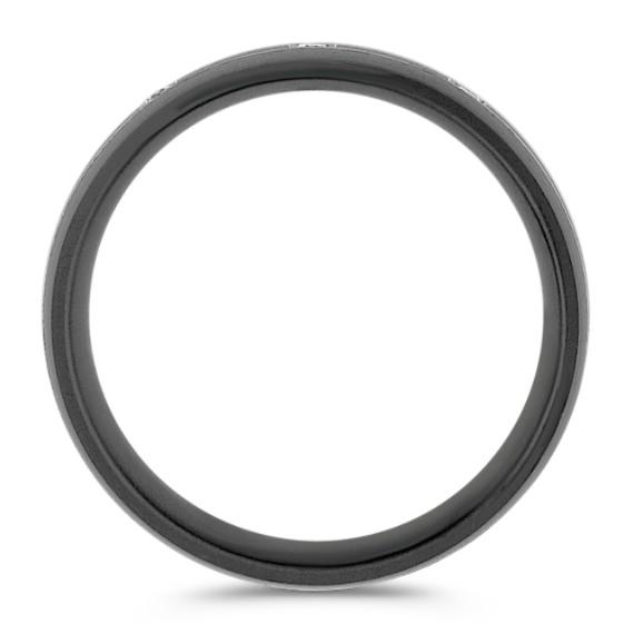 Round Diamond Ring in Black Titanium (7mm)
