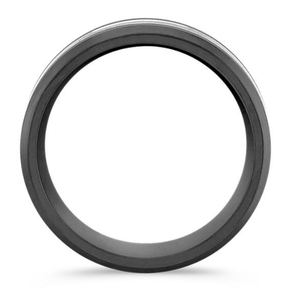 Round Diamond Ring in Titanium