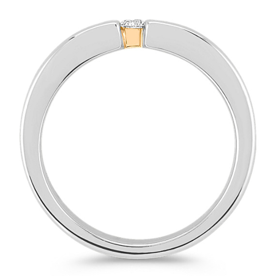 Round Diamond Ring in Two-Tone Gold (6mm)