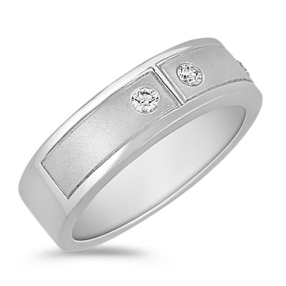 Round Diamond Ring with Bezel Setting (7mm)