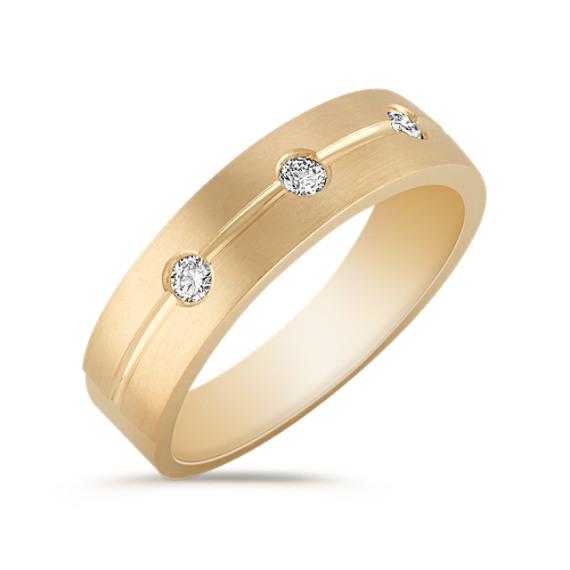 Round Diamond Ring with Bezel Setting