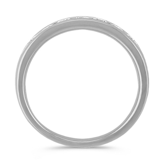 Round Diamond Ring with Channel-Setting