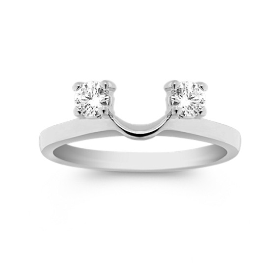 Round Diamond Solitaire Engagement Ring Wrap