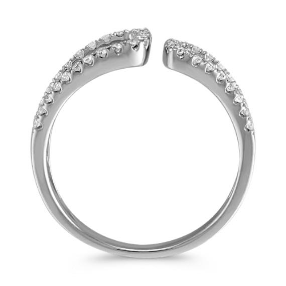 Round Diamond Split Shank Cuff Ring