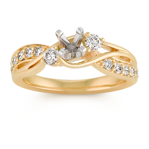 Round Diamond Swirl Fashion Ring