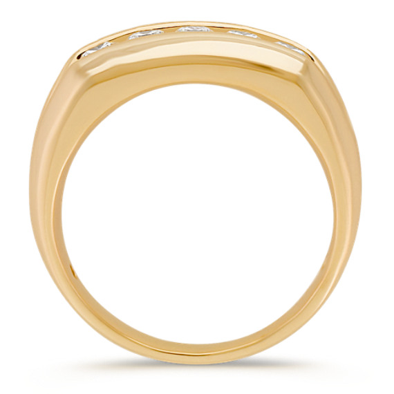 Round Diamond Wedding Band in 14k Yellow Gold (6mm)