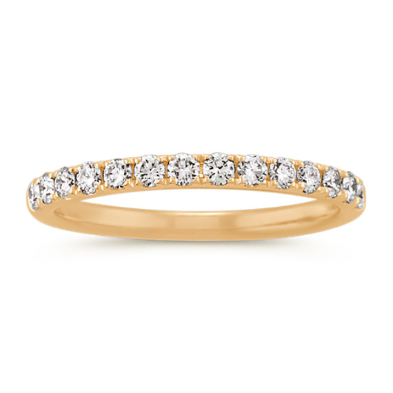 Round Diamond Wedding Band in 14k Yellow Gold