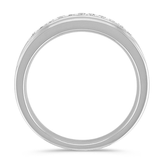 Round Diamond Wedding Band with Channel-Setting (6mm)
