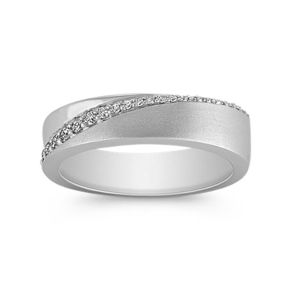 Round Diamond Wedding Band with Pavé Setting (5mm)