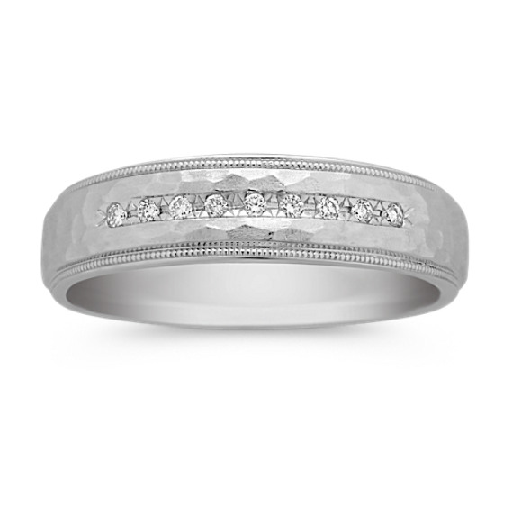 Round Diamond Wedding Band