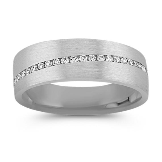 Round Diamond Wedding Band (7mm)