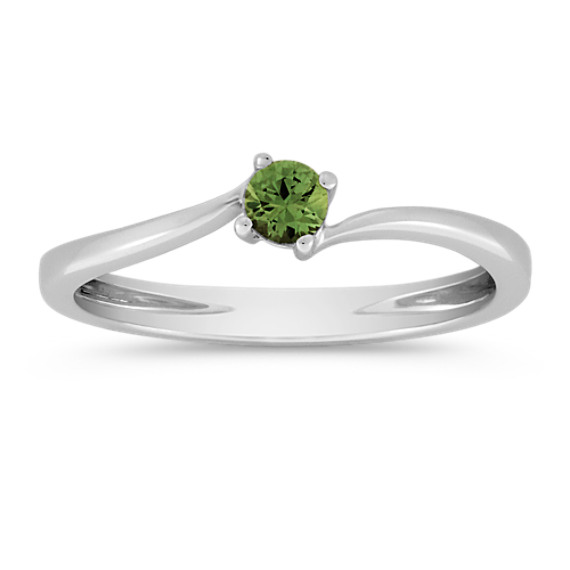 Round Green Sapphire Ring
