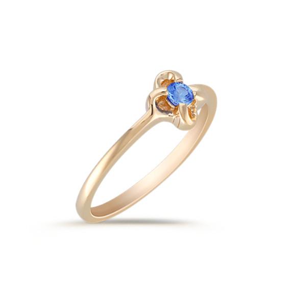 Round Kentucky Blue Sapphire Ring