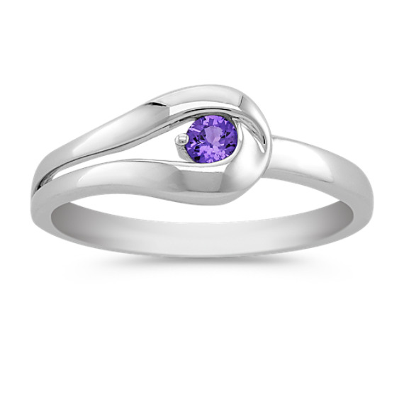 Round Lavender Sapphire Ring