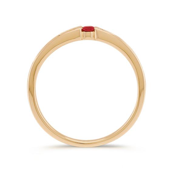 Round Ruby Ring