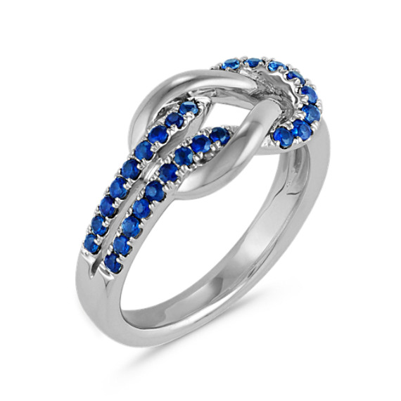 Round Traditional Sapphire Knot Ring