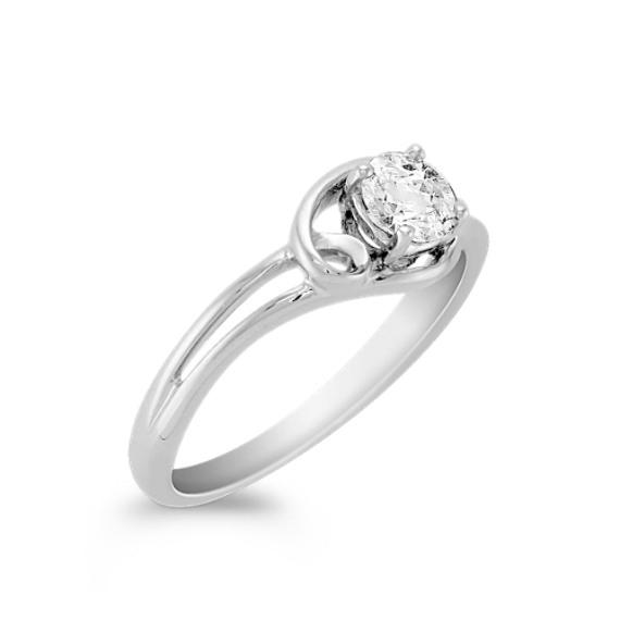 Round White Sapphire Ring