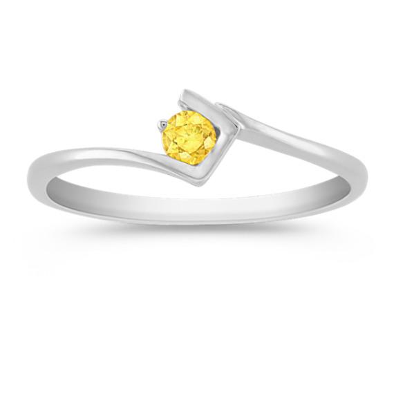 Round Yellow Sapphire Ring