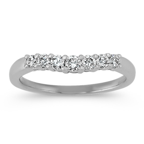 Seven Stone Contour Diamond Wedding Band